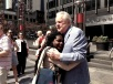 ROBERT OSBORNE & ME ( BUS TOUR HUG )