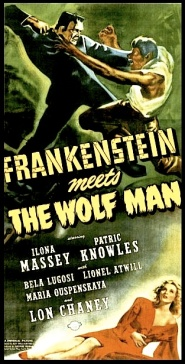 FRANKENSTEIN MEETS THE WOLFMAN ( Poster )
