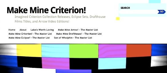( BLOGGER ) MAKE MINE CRITERION!