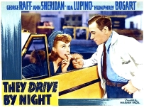 LUPINO ( THEY DRIVE BY NIGHT ) POSTER