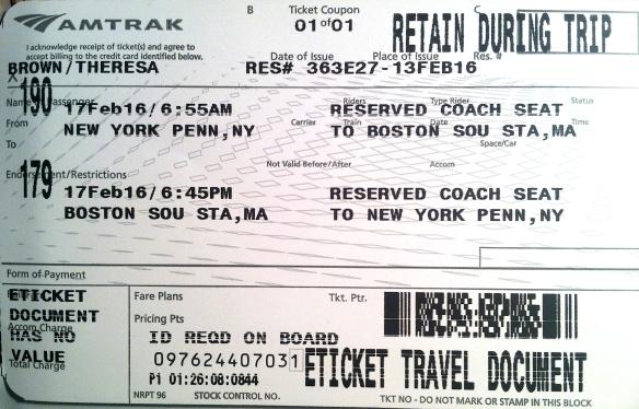 AMTRAK to BOSTON