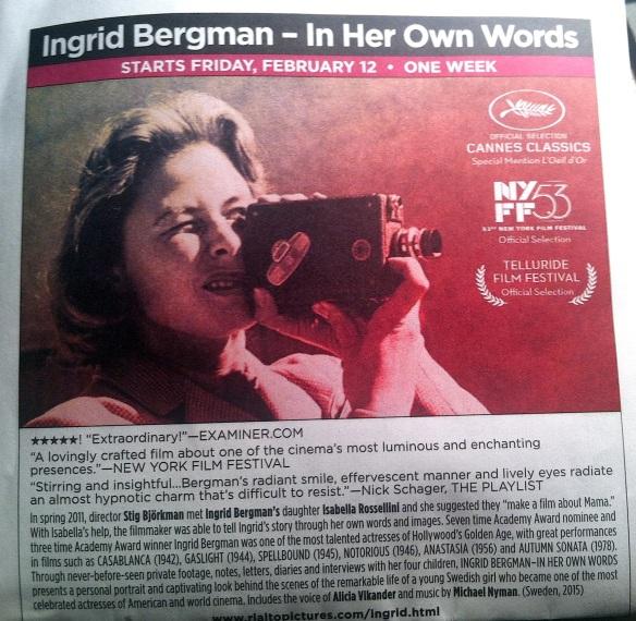 INGRID BERGMAN Program