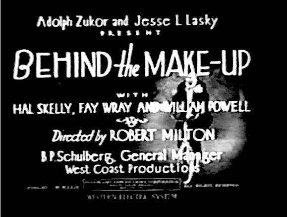 BEHIND THE MAKE-UP Title Card