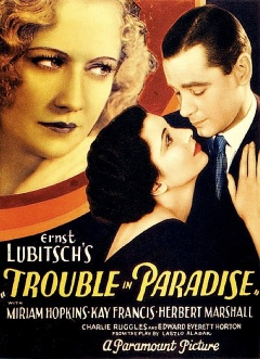 TROUBLE IN PARADISE ( TITLE POSTER )