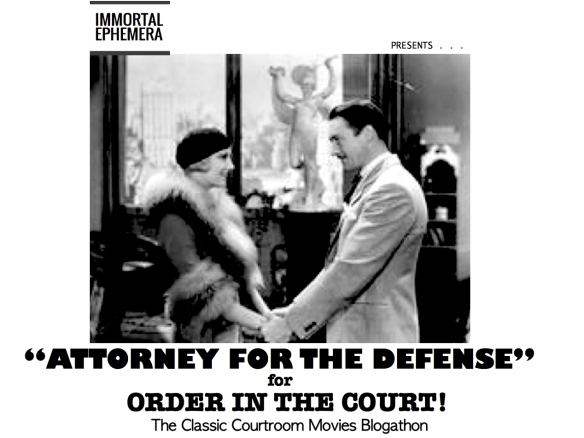 COURTROOM BLOGATHON ( %22ATTORNEY FOR THE DEFENSE%22 )